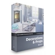 CGAxis – Decorations 3D Models Collection – Volume 103