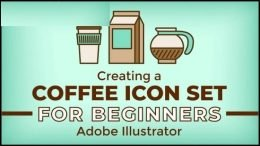 Creating a Coffee Icon Set in Adobe Illustrator for Beginners: Design Process - Sketch to Vector